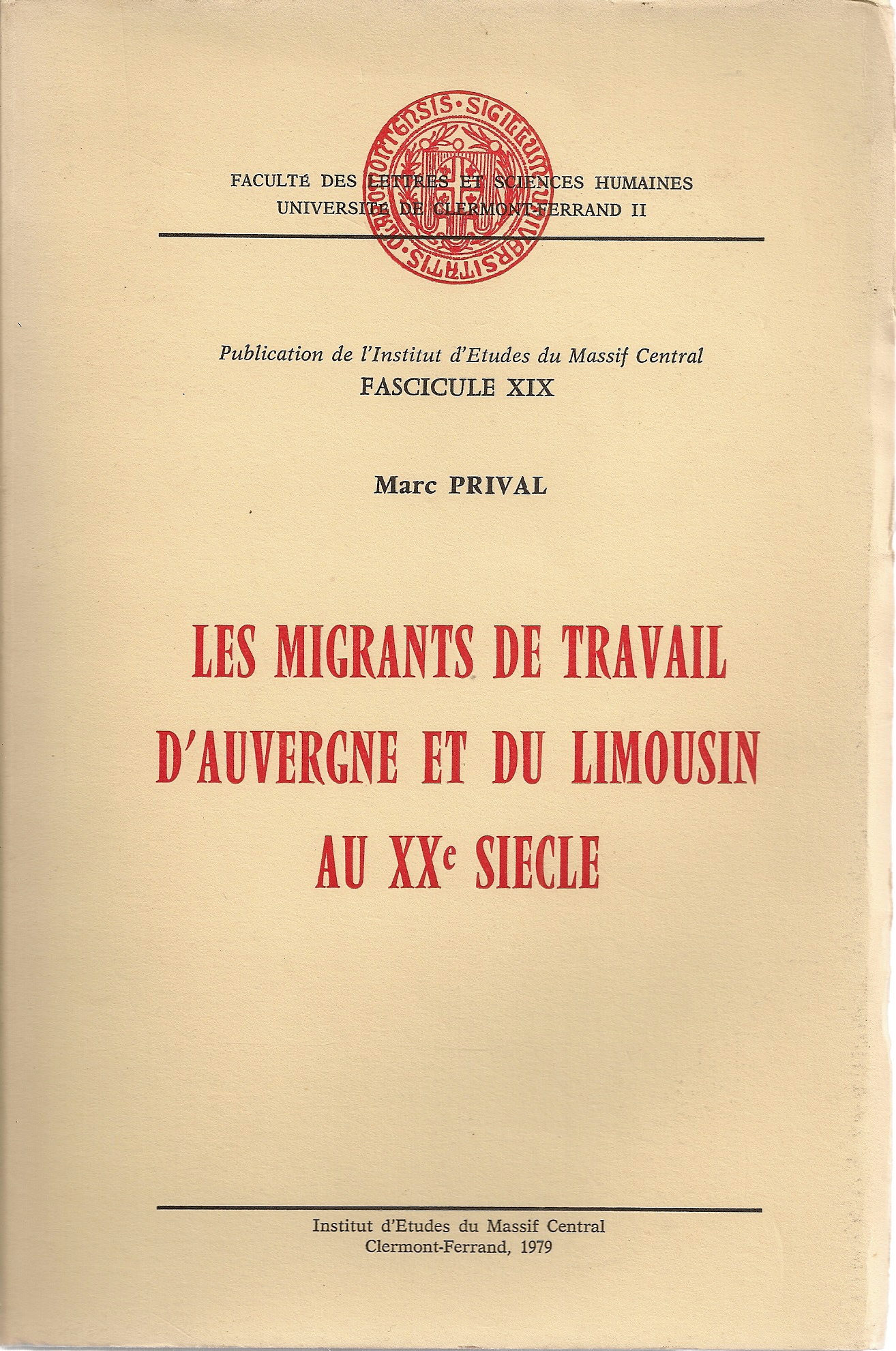 Les migrants de travail....Marc PRIVAL